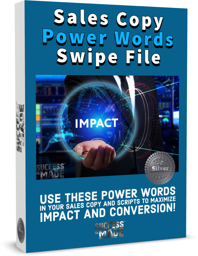 Sales Copy Power Words Swipe File box small shadow