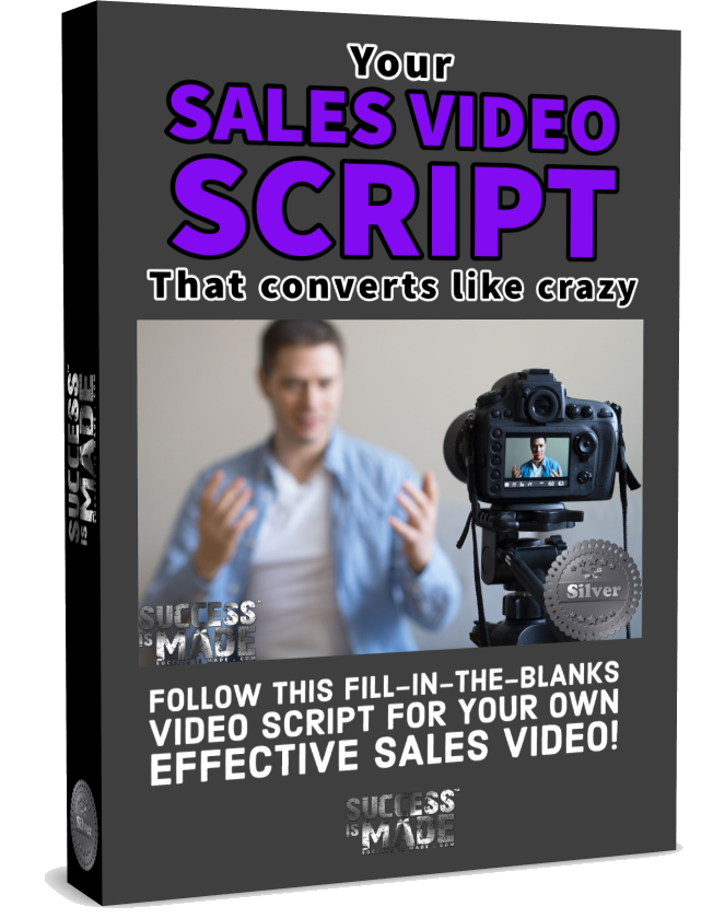 Sales Video Script box freestanding
